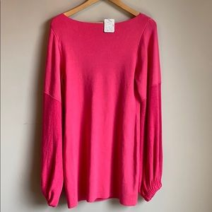 NWT Free People pink slouch sleeve sweater dress